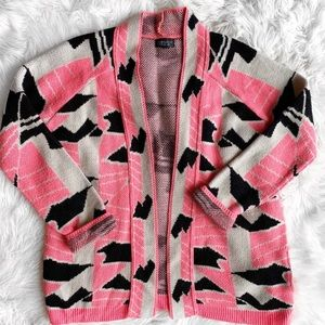 Topshop Open Front Cardigan Sweater N0979
